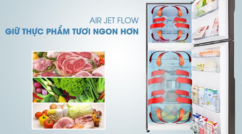 Hệ thống Air Jet Flow - Tủ lạnh Hitachi Inverter 366 lít R-FG480PGV8 GBK