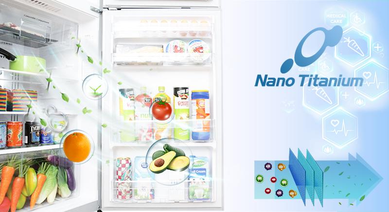 Màng lọc Nano Titanium - Tủ lạnh Hitachi Inverter 366 lít R-FG480PGV8 GBK