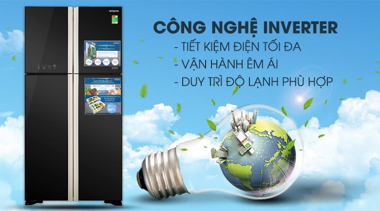 Công nghệ Inverter - Tủ lạnh Hitachi Inverter 509 lít R-FW650PGV8 GBK