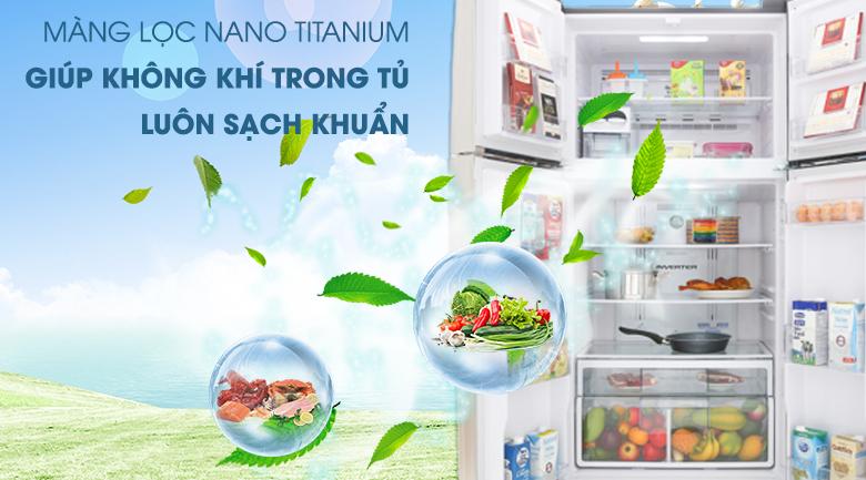Màng lọc Nano Titanium - Tủ lạnh Hitachi Inverter 509 lít R-FW650PGV8 GBK