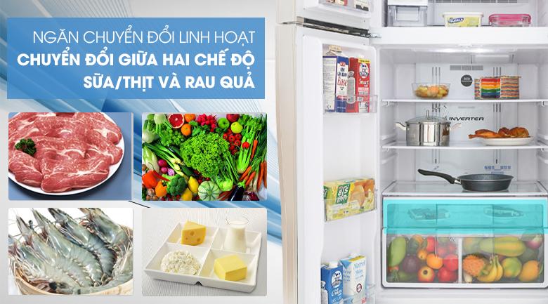 Ngăn trữ Fresh select - Tủ lạnh Hitachi Inverter 509 lít R-FW650PGV8 GBK