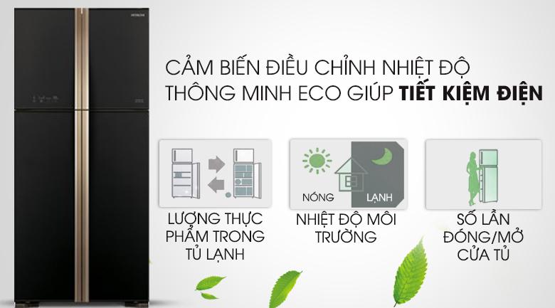 Cảm biến nhiệt ECO - Tủ lạnh Hitachi Inverter 509 lít R-FW650PGV8 GBK