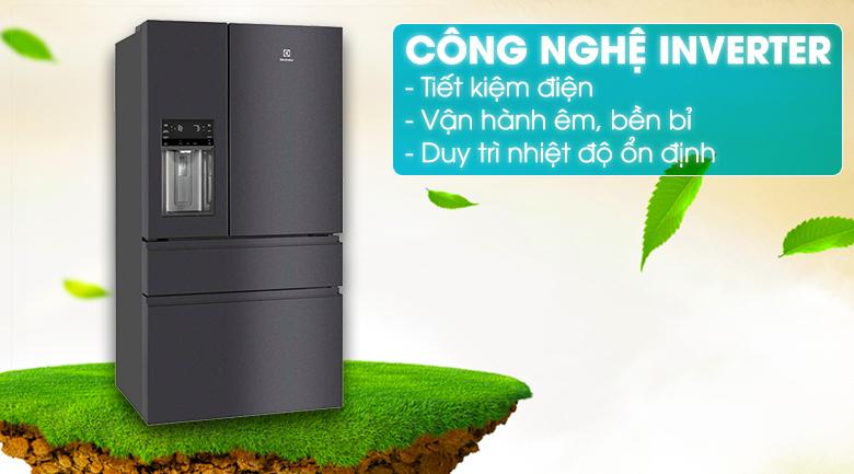 Công nghệ Inverter tiết kiệm điện tối đa - Tủ lạnh Electrolux Inverter 617 lít EHE6879A-B