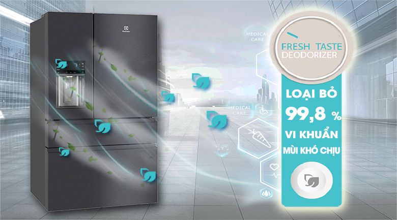 Hệ thống khử mùi Fresh Taste - Tủ lạnh Electrolux Inverter 617 lít EHE6879A-B