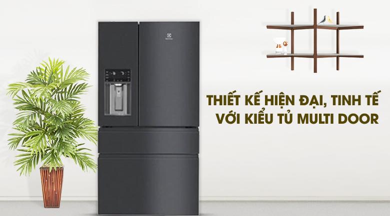 Thiết kế hiện đại, màu sắc tinh tế - Tủ lạnh Electrolux Inverter 617 lít EHE6879A-B