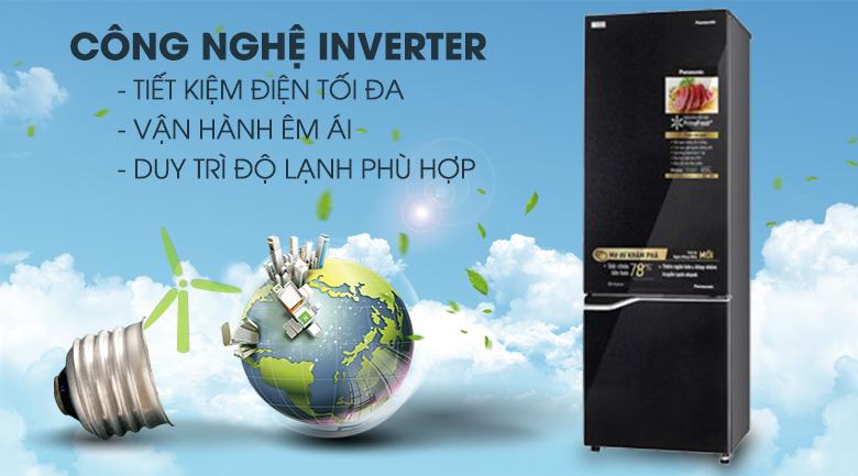 Tủ lạnh Inverter tiết kiệm điện, vận hành êm - Tủ lạnh Panasonic Inverter 322 lít NR-BC360QKVN