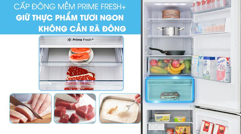 Ngăn cấp đông mềm thế hệ mới Prime Fresh+ - Tủ lạnh Panasonic Inverter 322 lít NR-BC360QKVN