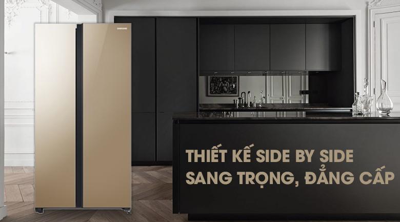 Thiết kế sang trọng, bắt mắt - Tủ lạnh Samsung Inverter 647 lít RS62R50014G/SV