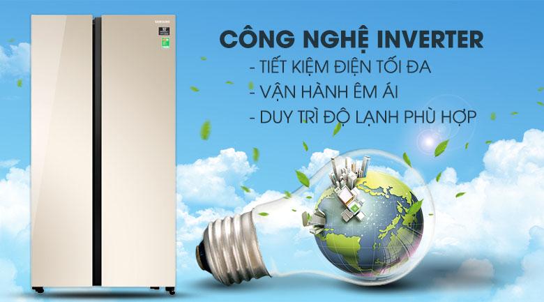 Vận hành tốt hơn với công nghệ Digital Inverter - Tủ lạnh Samsung Inverter 647 lít RS62R50014G/SV