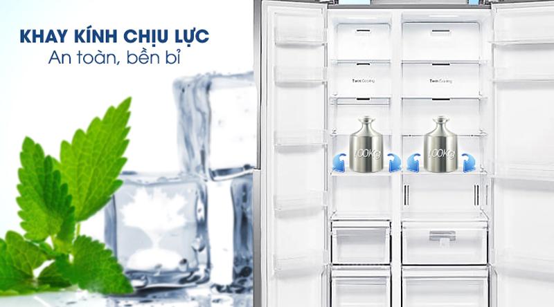 Khay kệ kính chịu lực - Tủ lạnh Samsung Inverter 647 lít RS62R50014G/SV