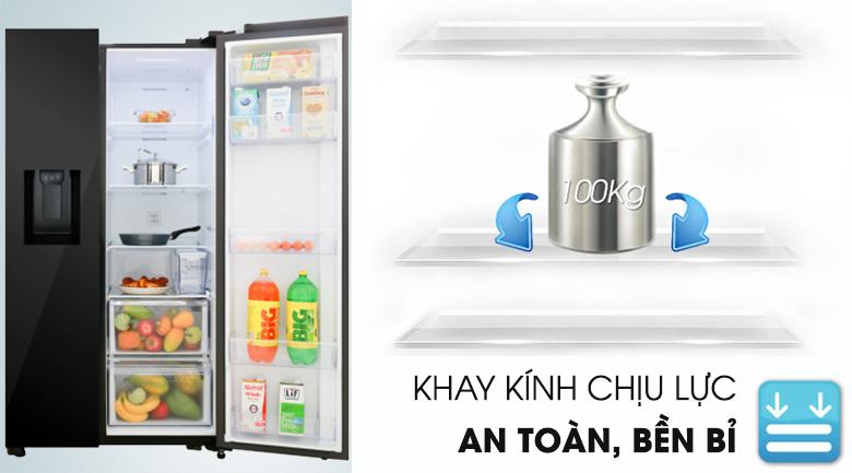 Khay kệ kính chịu lực - Tủ lạnh Samsung Inverter 617 lít RS64R53012C/SV