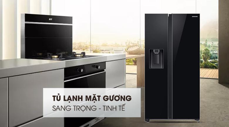 Thiết kế sang trọng và tinh tế - Tủ lạnh Samsung Inverter 617 lít RS64R53012C/SV