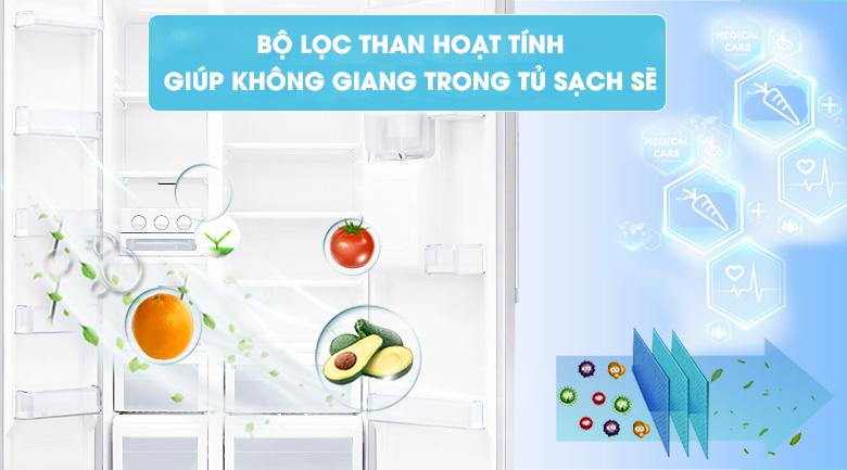 Lọc sạch không khí với bộ lọc than hoạt tính - Tủ lạnh Samsung Inverter 617 lít RS64R53012C/SV
