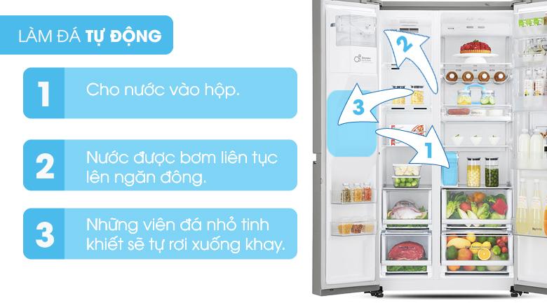Làm đá tự động - Tủ lạnh Samsung Inverter 617 lít RS64R53012C/SV