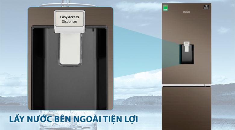Làm đá tự động và lấy nước bên ngoài tiện lợi, tiết kiệm - Tủ lạnh Samsung Inverter 307 lít RB30N4170DX/SV