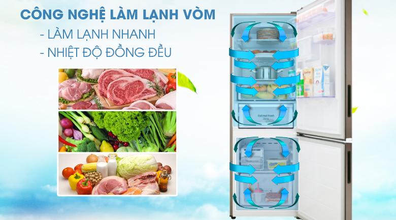 Công nghệ làm lạnh dạng vòm - Tủ lạnh Samsung Inverter 307 lít RB30N4170DX/SV