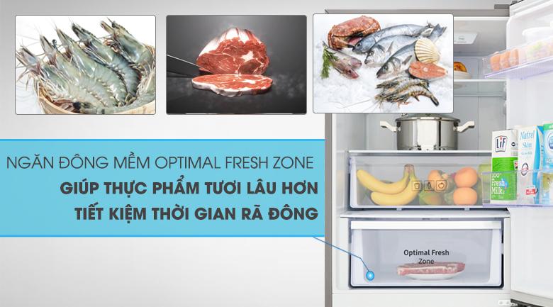Ngăn đông mềm bảo quản thực phẩm tươi sống mà không cần rã đông - Tủ lạnh Samsung Inverter 276 lít RB27N4010DX/SV