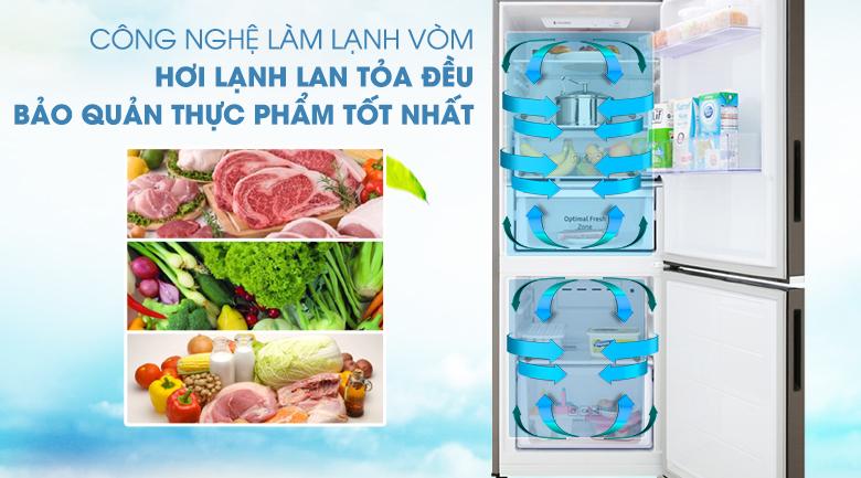 Công nghệ làm lạnh dạng vòm - Tủ lạnh Samsung Inverter 276 lít RB27N4010DX/SV