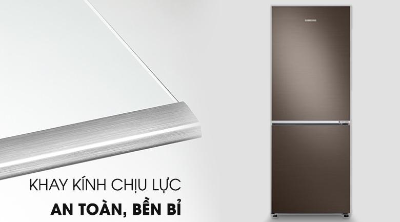 Khay kính chịu lực tốt - Tủ lạnh Samsung Inverter 276 lít RB27N4010DX/SV