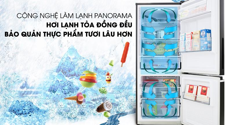 Công nghệ làm lạnh Panorama - Tủ lạnh Panasonic Inverter 255 lít NR-BV280GKVN