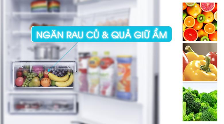 Ngăn rau quả giữ ẩm Fresh Safe - Tủ lạnh Panasonic Inverter 255 lít NR-BV280GKVN
