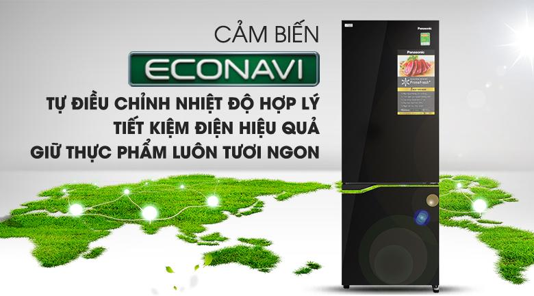 Cảm biến Econavi - Tủ lạnh Panasonic Inverter 290 lít NR-BV320GKVN