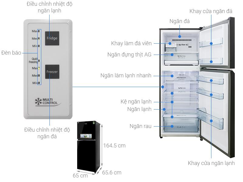 Thông số kỹ thuật Tủ lạnh Panasonic Inverter 326 lít NR-BL351GKVN