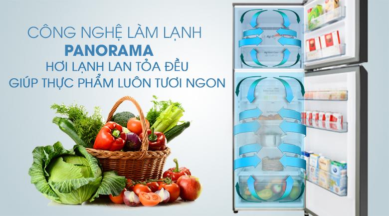Công nghệ Panorama - Tủ lạnh Panasonic Inverter 326 lít NR-BL351GKVN