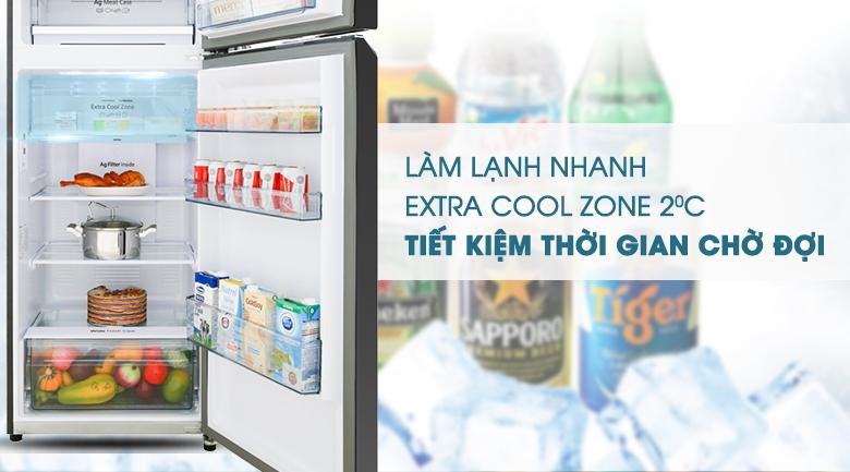Ngăn Extra Cool Zone - Tủ lạnh Panasonic Inverter 366 lít NR-BL381GKVN
