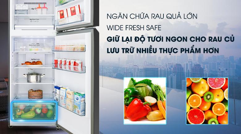 Ngăn Wide Fresh Safe - Tủ lạnh Panasonic Inverter 366 lít NR-BL381GKVN
