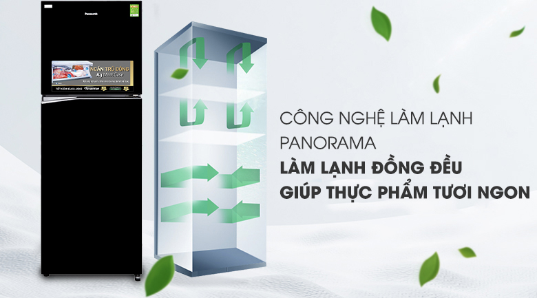 Công nghệ Panorama - Tủ lạnh Panasonic Inverter 366 lít NR-BL381GKVN