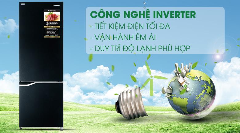 Công nghệ Inverter - Tủ lạnh Panasonic Inverter 322 lít NR-BV360GKVN