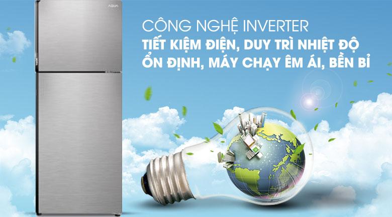 Công nghệ Inverter - Tủ lạnh Aqua Inverter 235 lít AQR-T249MA SV