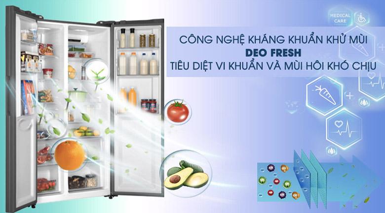 Công nghệ kháng khuẩn khử mùi DEO Fresh - Tủ lạnh AQUA Inverter 576 lít AQR-IG696FS GB