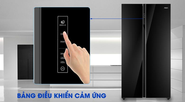 Bảng điều khiển cảm ứng thông minh - Tủ lạnh AQUA Inverter 576 lít AQR-IG696FS GB
