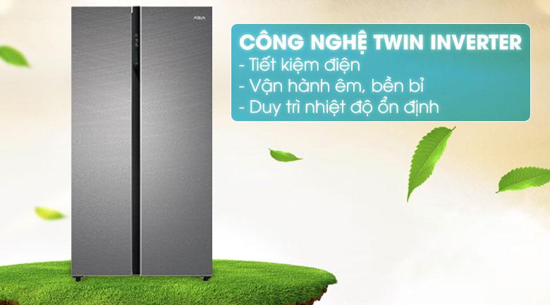 Công nghệ Inverter - Tủ lạnh Aqua Inverter 576 lít AQR-IG696FS GD