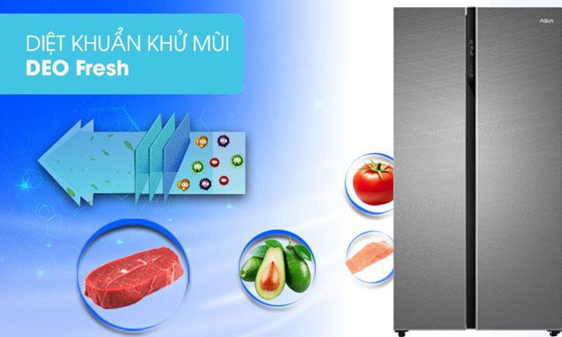 Công nghệ DEO Fresh - Tủ lạnh Aqua Inverter 576 lít AQR-IG696FS GD