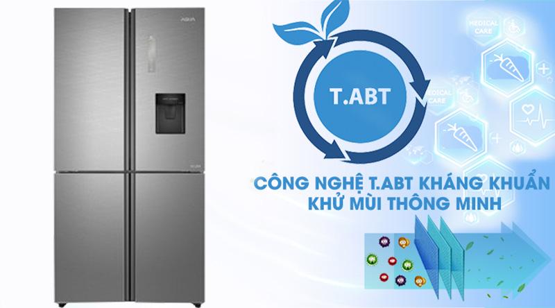 Tủ lạnh Aqua Inverter 456 lít AQR-IGW525EM GD  - Khử mùi hiệu quả nhờ công nghệ T.ABT