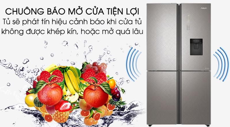 Tủ lạnh Aqua Inverter 456 lít AQR-IGW525EM GP - Kiểm soát hơi lạnh với chuông báo mở cửa