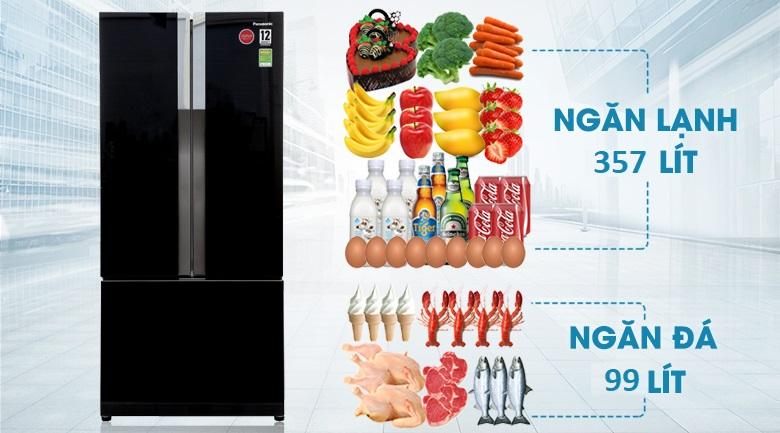 Dung tích 494 lít - Tủ lạnh Panasonic Inverter 494 lít NR-CY550GKVN