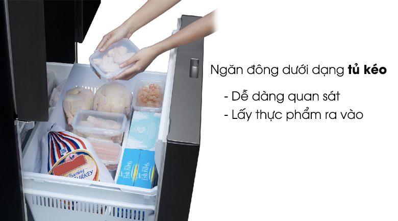 Ngăn đông dạng kéo - Tủ lạnh Panasonic Inverter 494 lít NR-CY550GKVN
