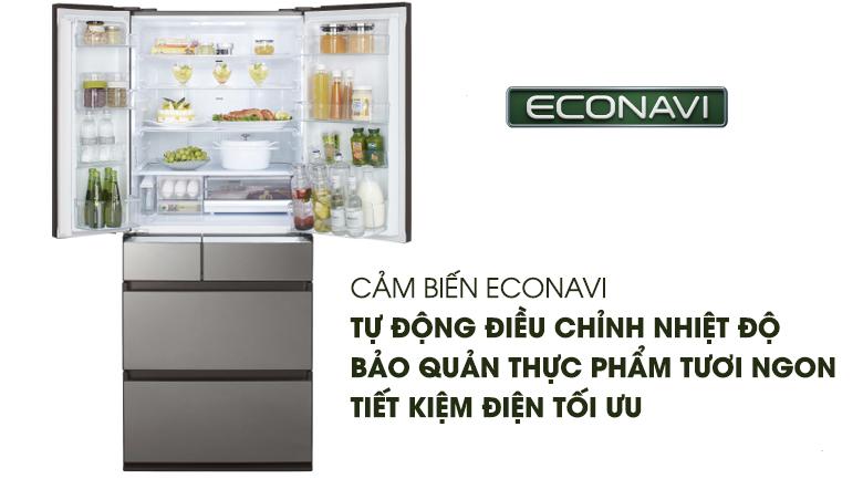 Cảm biến Econavi - Tủ lạnh Panasonic Inverter 642 lít NR-F654GT-X2
