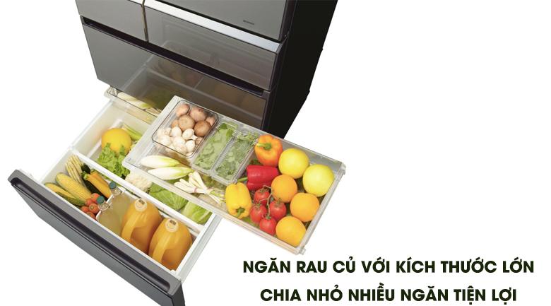 Ngăn rau quả lớn - Tủ lạnh Panasonic Inverter 642 lít NR-F654GT-X2