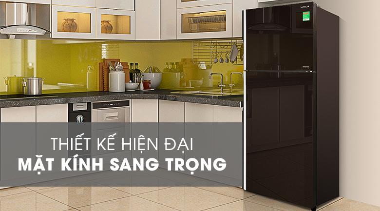 Tủ lạnh Hitachi Inverter 366 lít R-FG480PGV8 GBW - Thiết kế hiện đại, mặt kính sang trọng
