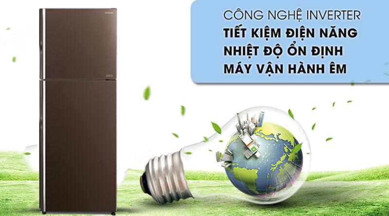 Tủ lạnh Hitachi Inverter 366 lít R-FG480PGV8 GBW - Tiết kiệm điện sử dụng hằng tháng nhờ công nghệ Inverter