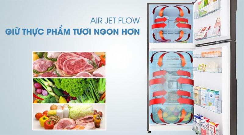 Tủ lạnh Hitachi Inverter 366 lít R-FG480PGV8 GBW - Lan tỏa đều khí lạnh với công nghệ Air Jet Flow