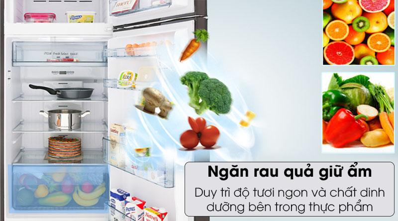 Tủ lạnh Hitachi Inverter 366 lít R-FG480PGV8 GBW - duy trì độ tươi ngon nhờ ngăn rau quả giữ ẩm