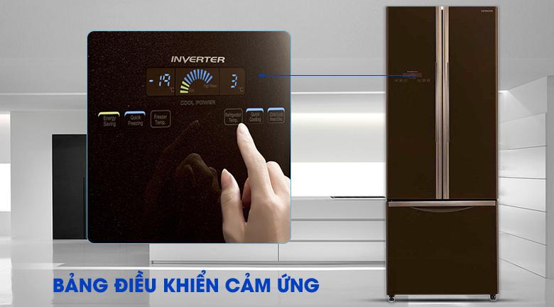 Bảng điều khiển bên ngoài tiện lợi - Tủ lạnh Hitachi Inverter 405 lít R-FWB475PGV2 GBW