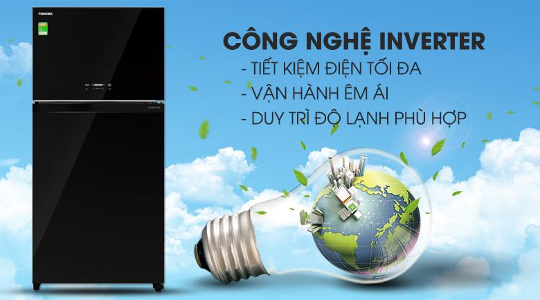 Tủ lạnh Toshiba Inverter 555 lít GR-AG58VA XK - Tiết kiệm điện đáng kể nhờ công nghệ Inverter