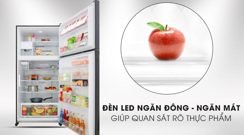 Tủ lạnh Toshiba Inverter 555 lít GR-AG58VA XK - trang bị đèn led chiếu sáng cả ngăn đông và ngăn mát